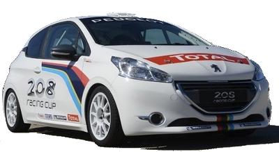 Présentation de la Peugeot 208 Racing Cup de 2013.